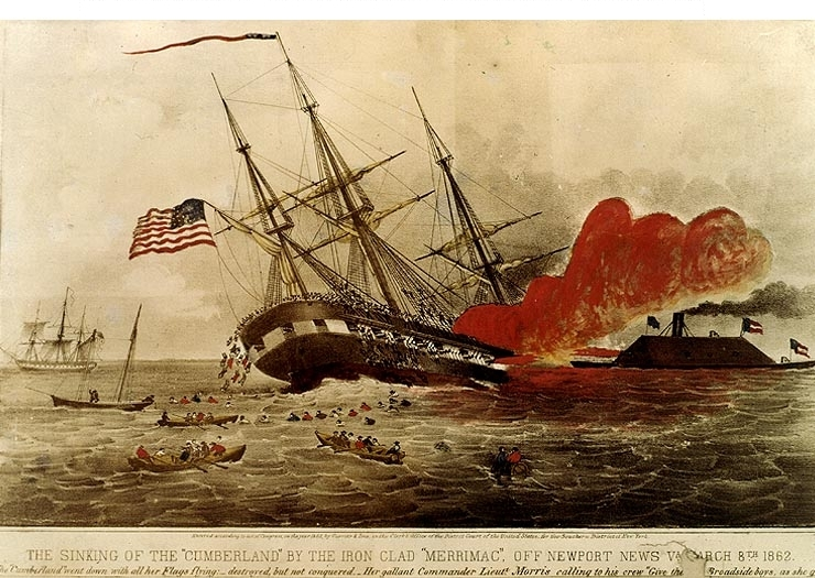 a look at the naval battle between the uss monitor and css merrimack The battle of hampton roads, often referred to as either the battle of the monitor and merrimack (or virginia) or the battle of ironclads.